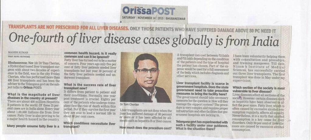 One-Fourth Of Liver Disease Cases Globally Is From India